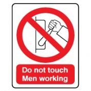 Prohibition safety sign - Do Not Touch 036